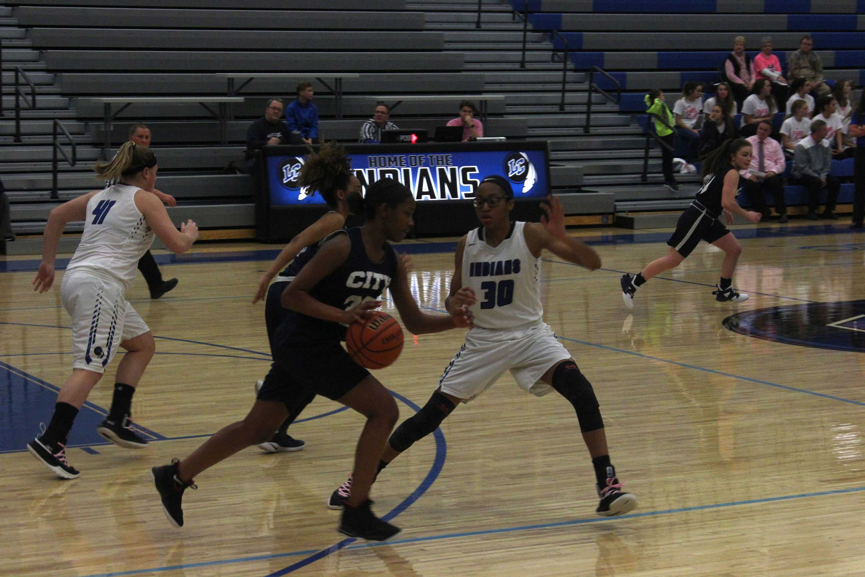 Girls JV Basketball defeats Michigan City