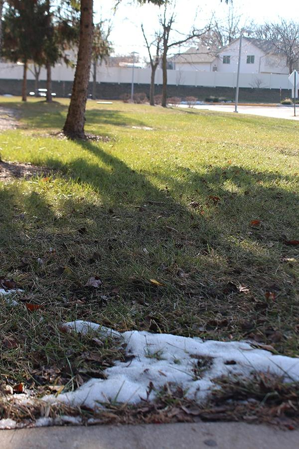Snow is slowly melting from our last snow fall. The official winter season will begin on Dec. 21.