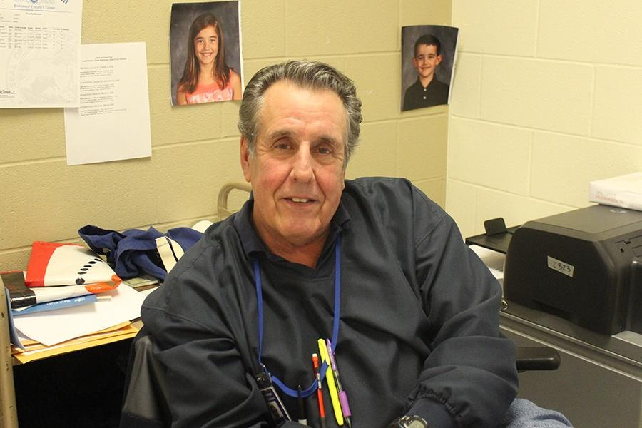 Mr. Bannon poses for a picture in his classroom. He has been teaching at Lake Central for 11 years.