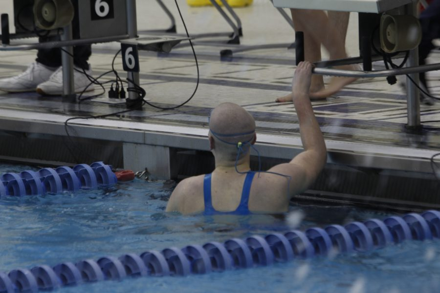 Paige+Baker+%2810%29+finishing+the+100+yard+freestyle+swimming+her+fastest+time+of+a+51.60.+Paige+Baker+%2810%29+had+previously+shaved+her+head+before+preliminaries+for+Saint+Baldricks.+