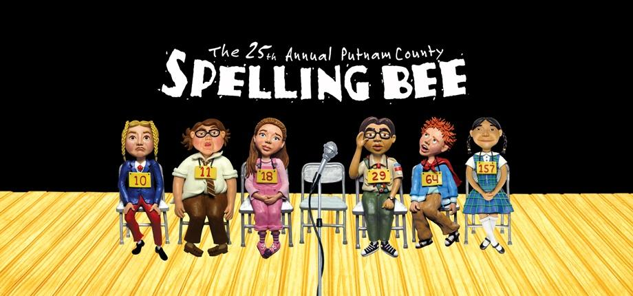 An illustration of the characters from The 25th Annual Putnam County Spelling Bee