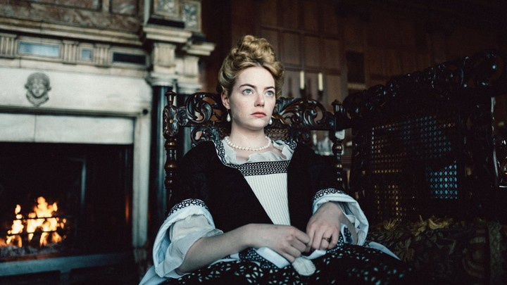 """The Favourite"" is an English movie taking place in 18th century England.  The movie stars Olivia Colman, who one best performance at the oscars because of it."