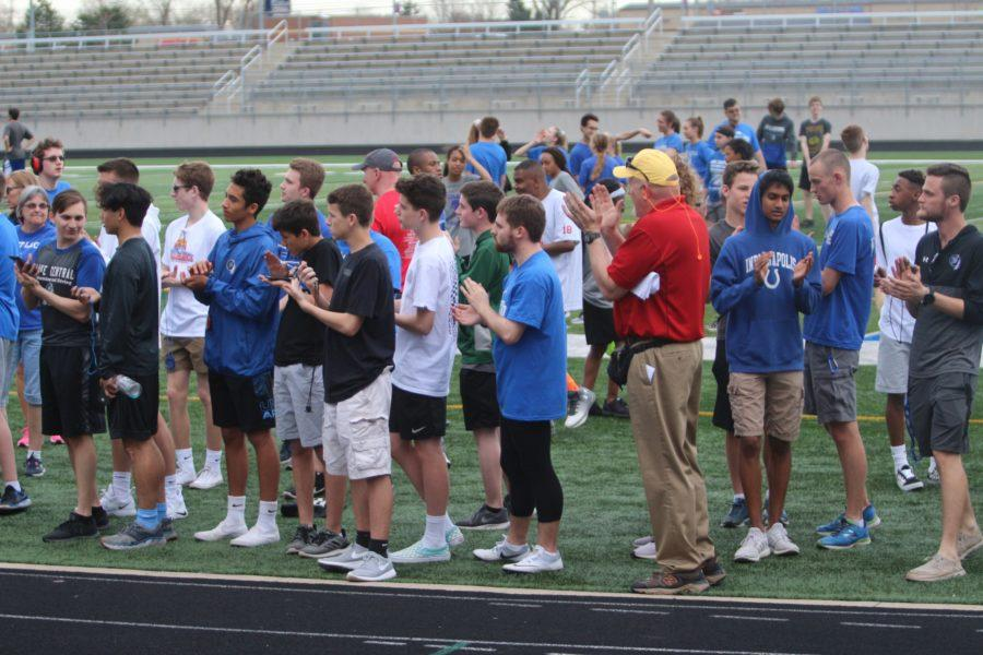Students+and+peers+cheer+on+their+teammates+as+they+compete+in+events.+The+unified+track+meet+was+held+on+Monday%2C+April+22.