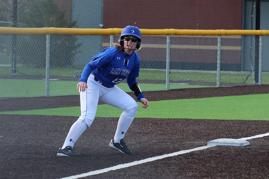 Brooke+Dines+%2811%29+rounds+third+base.+Dines+played+second+for+the+Indians+in+the+game+against+Portage.+