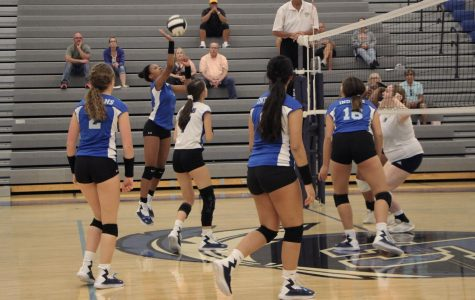 JV girl's volleyball win against Michigan City