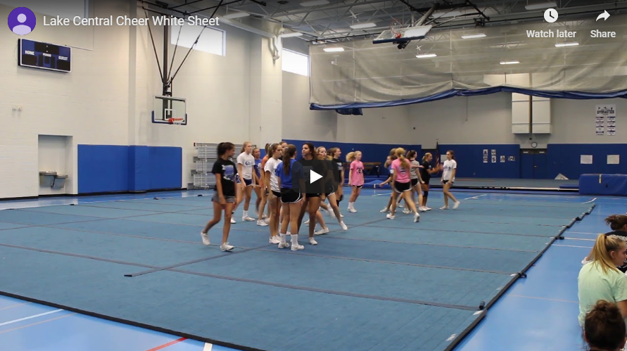 Lake Central cheer practice