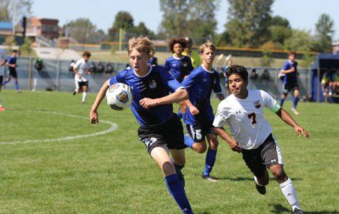Varsity boys soccer defeats LaPorte