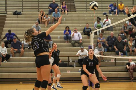 Varsity girls volleyball wins against Merrillville