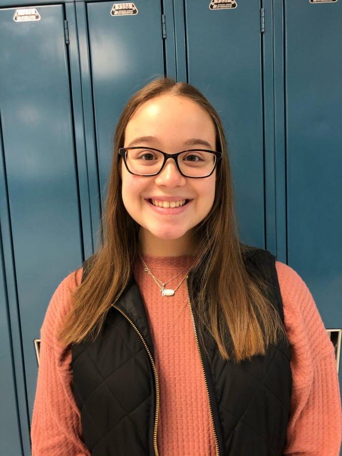 Cate Malesh (10) talks about her favorite club, Best Buddies. Malesh was able to make a lot of fun memories and good friends while participating in Best Buddies.