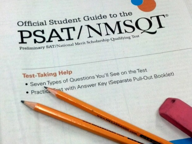 PSAT [Preliminary Scholastic Aptitude Test] testing day is on Oct. 16. All students grades 8-11 in Indiana will be taking the test.