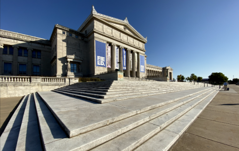 The Field Museum is a unique location with a plethora of knowledge about natural history. The length of limestone stairs guide you to the huge glass entrance at the top.