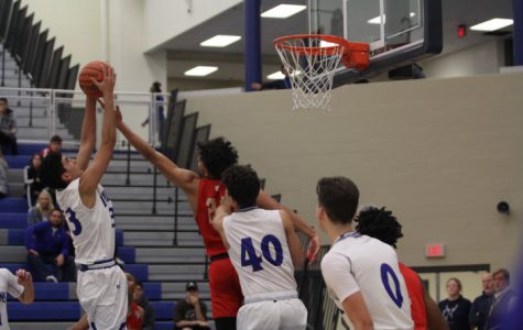 Varsity boys basketball first game victory over Andrean
