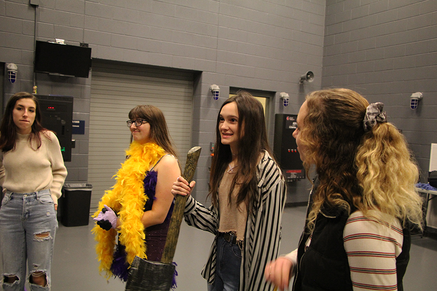 Genelle Snider (11) directs her group as they begin to act out a skit. Snider's group of eleven students worked on a script writing project where they took ideas and put on a show using improvisation.