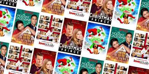 A few Christmas movies from Netflix are arranged in a picture.  These movies are a variety of genres.