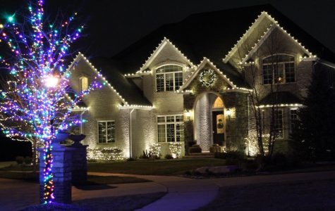 "This house was all-out for white Christmas lights and a little bit of colorful lights. ""I like white Christmas lights because they look brighter than other lights and they look more neat and put together,"" Amber Engelhaupt (12)"