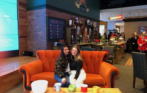 """A life-size replica of Central Perk is set up in the AT&T Flagship Store.  The pop-up shop was celebrating the 25th anniversary of the popular sitcom """"Friends."""""""
