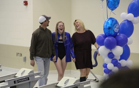 Swimming through senior night