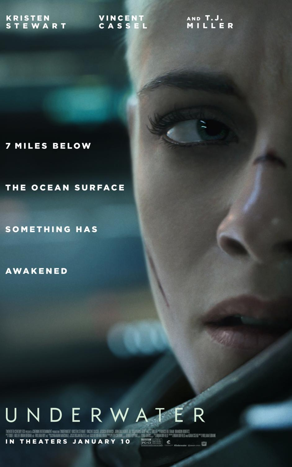 Underwater is a scary movie. It was released on Jan. 10, 2020.