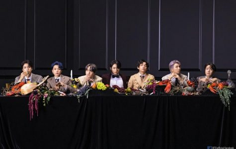 BTS poses for their third concept photoshoot of the album. Map of the Soul: 7 consists of four different photo concepts.