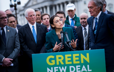 Representative Alexandria Ocasio-Cortez (D) announces the resolution of the Green New Deal on Feb. 7.  This deal was debated upon back and forth between Democrats who support it and Republicans who oppose it.