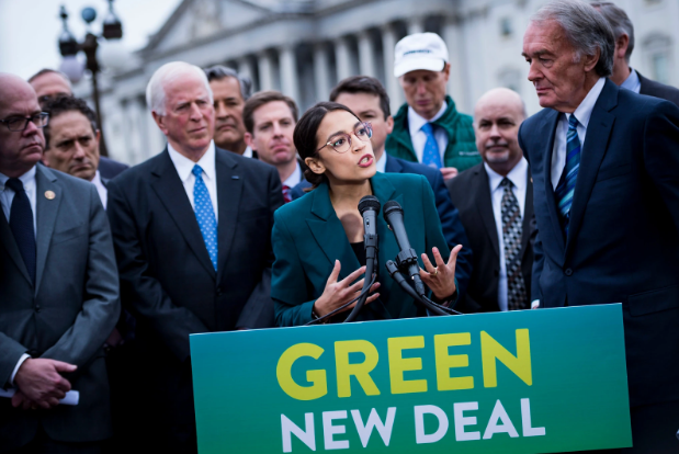 Representative+Alexandria+Ocasio-Cortez+%28D%29+announces+the+resolution+of+the+Green+New+Deal+on+Feb.+7.++This+deal+was+debated+upon+back+and+forth+between+Democrats+who+support+it+and+Republicans+who+oppose+it.