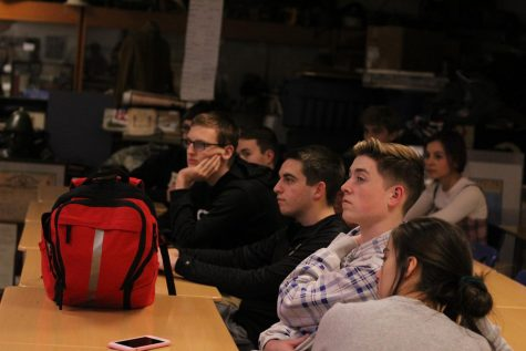 History Club members stare with amazement at the presentation. They all clapped after the presentation was over.