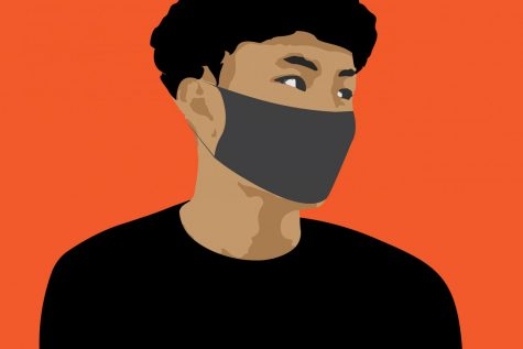 Simply wearing masks as a safety precaution has led Asian-Americans to face particular scrutiny. The anti-Asian sentiment seen online is indicative of increasingly overt racism in the real world.  Illustration by Joshua Chen