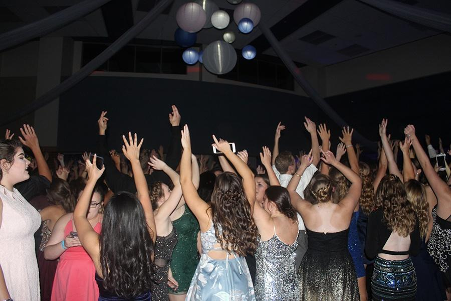 Lake Central students enjoy the music and dance the night away. Appreciating being with their friends and celebrating the 2018 Homecoming Dance. (Photo by: Sarah Huszar)