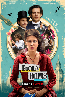 The image shows the official cover of the Enola Holmes movie. The movie was released on Sept. 23, 2020 on Netflix.