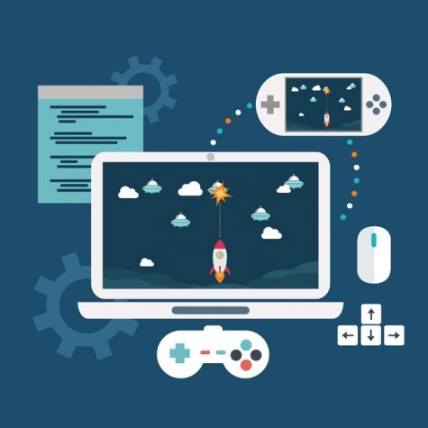 Game Development has been active for a few years, and utilizes various forms of coding in the creation of simple games.  This year, it's at risk of disappearance without sponsorship by the school.