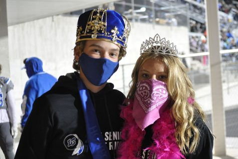 On Oct. 2 Ryan Huppenthal (12) and Riley Knestrict (12) were crowned homecoming king and queen. They were both very surprised and excited to be crowned but were sad because they couldn't go to the homecoming dance this year.