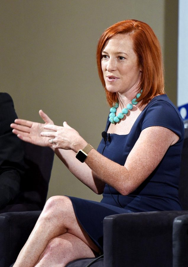 Jen Psaki at 'The Obama Legacy' panel during Politicon at Pasadena Convention Center on July 29, 2017 in Pasadena, California. President-elect Joe Biden has built a senior communications team composed entirely of women, including Psaki to be the face of the administration as White House press secretary.  (Joshua Blanchard / Getty Images for Politicon / TNS)