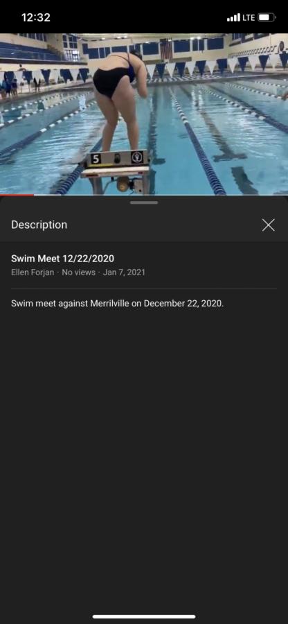 LC v Merrillville swim meet