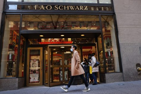 FAO Schwarz stands in its new location in Manhattan. Many local businesses, such as toy stores, have moved locations this year. (Tribune News Service)
