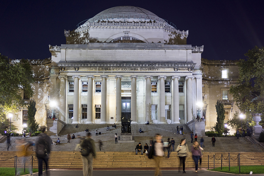 Columbia University in New York City is a private university with a current 6% acceptance rate. The university is an Ivy League institution and is ranked #3 in the nation by many sources. (Photo by Richard B. Levine/Sipa USA/TNS).