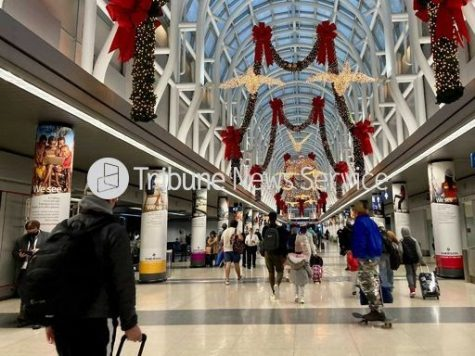 This is an image of O'Hare International Airport during the week of Thanksgiving. This week was busier than normal due to the holiday.