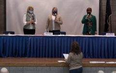 Dr. Janice Malchow, Mrs. Cindy Sues and Dr. Jennifer Medlen state the oath of office. They were getting sworn in for the year of 2021.