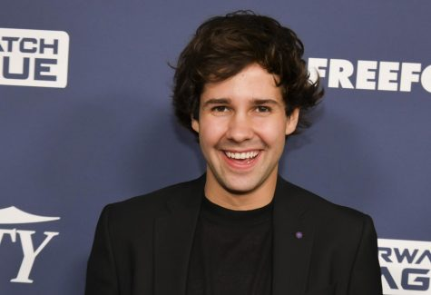 "David Dobrik stands at the Power of Young Hollywood event. He made his debut as a co-host for ""Dodgeball Thunderdome."""