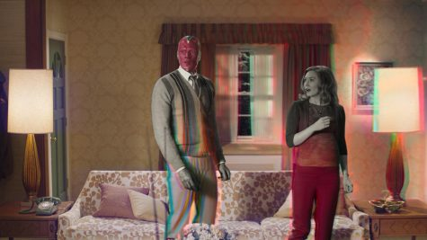 "Wanda Maximoff and Vision, played by Elizabeth Olsen and Paul Bettany, are the main characters of this new Disney+ original series, ""WandaVision."" It was based on the two MCU heroes and their ""normal"" lives as citizens of Westview, N.J. (Disney+/TNS)"