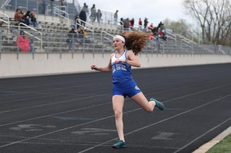 First win of the season for girls track