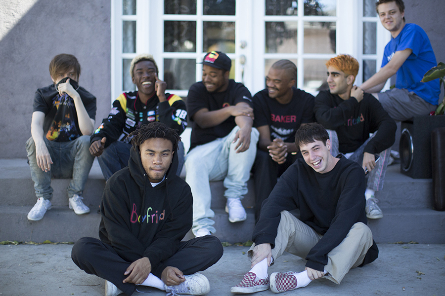Hip-hop collective Brockhampton has ousted member Ameer Vann over allegations of sexual misconduct, according to a statement the group released on Twitter. From front left, Kevin Abstract and Matt Champion; from rear left, bearface, Merlyn Wood, Dom McLennon, Ameer Vann, Romil Hemnani, JOBA. (Myung J. Chun/Los Angeles Times/TNS)