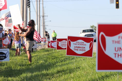 On Aug. 16, 2021, a large group of parents, students and community members protested against the school's mandate of masks. The protesters were gathered along US Route 41, inciting mixed reactions from passing traffic.