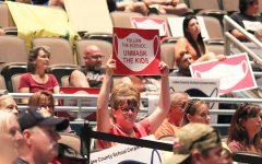Navigation to Story: Unmask the Kids protest group attends school board meeting