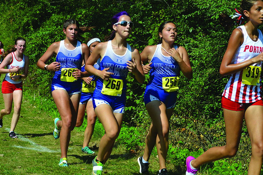 The girls move as one pack. Coach Amanda Pritt praised them for how well they followed each other's movements.