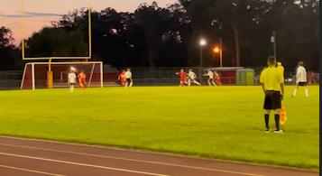Boys JV soccer (white) vs. Andrean